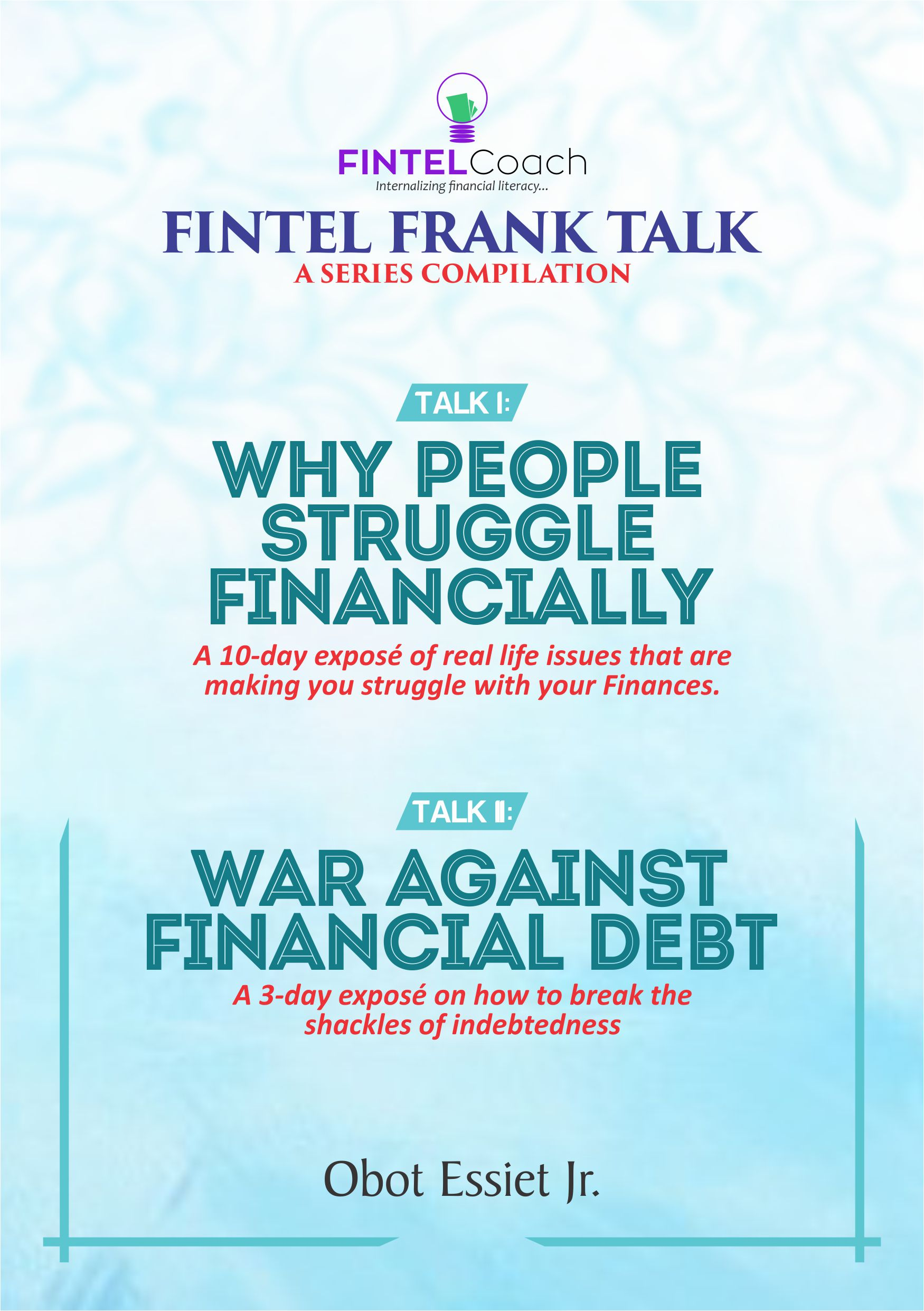 FINTEL FRANK TALK BOOK COVER